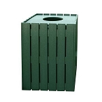 20-Gallon (76 L) Recycled Slatted Trash Container