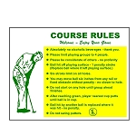Course Rule Sign