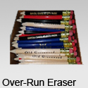 Over-Run Eraser Custom Pencils