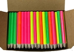 Assorted Neon Colors Hex Pencil