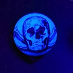 Black Light Skull Novelty Ball