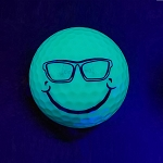 Black Light Smiley Face with Sunglasses Novelty Ball
