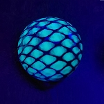 Black Light Snake Skin Novelty Ball