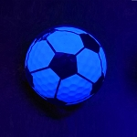 Black Light Soccer Novelty Ball