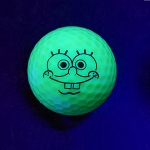 Black Light Spongy Novelty Ball
