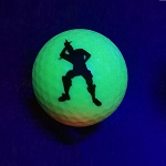 Black Light Yellow Loser Novelty Ball